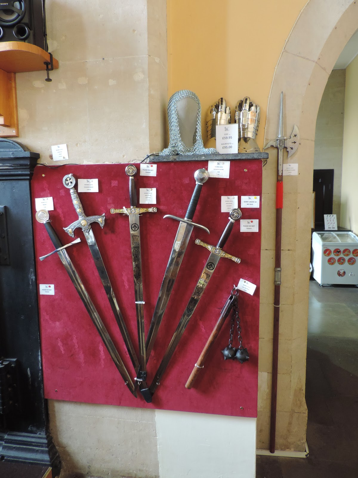 mace and medieval swords