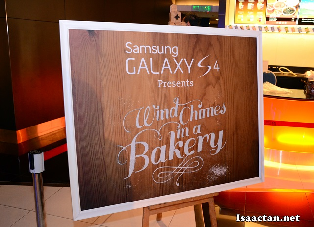 Windchimes in a Bakery, presented by Samsung Galaxy S4