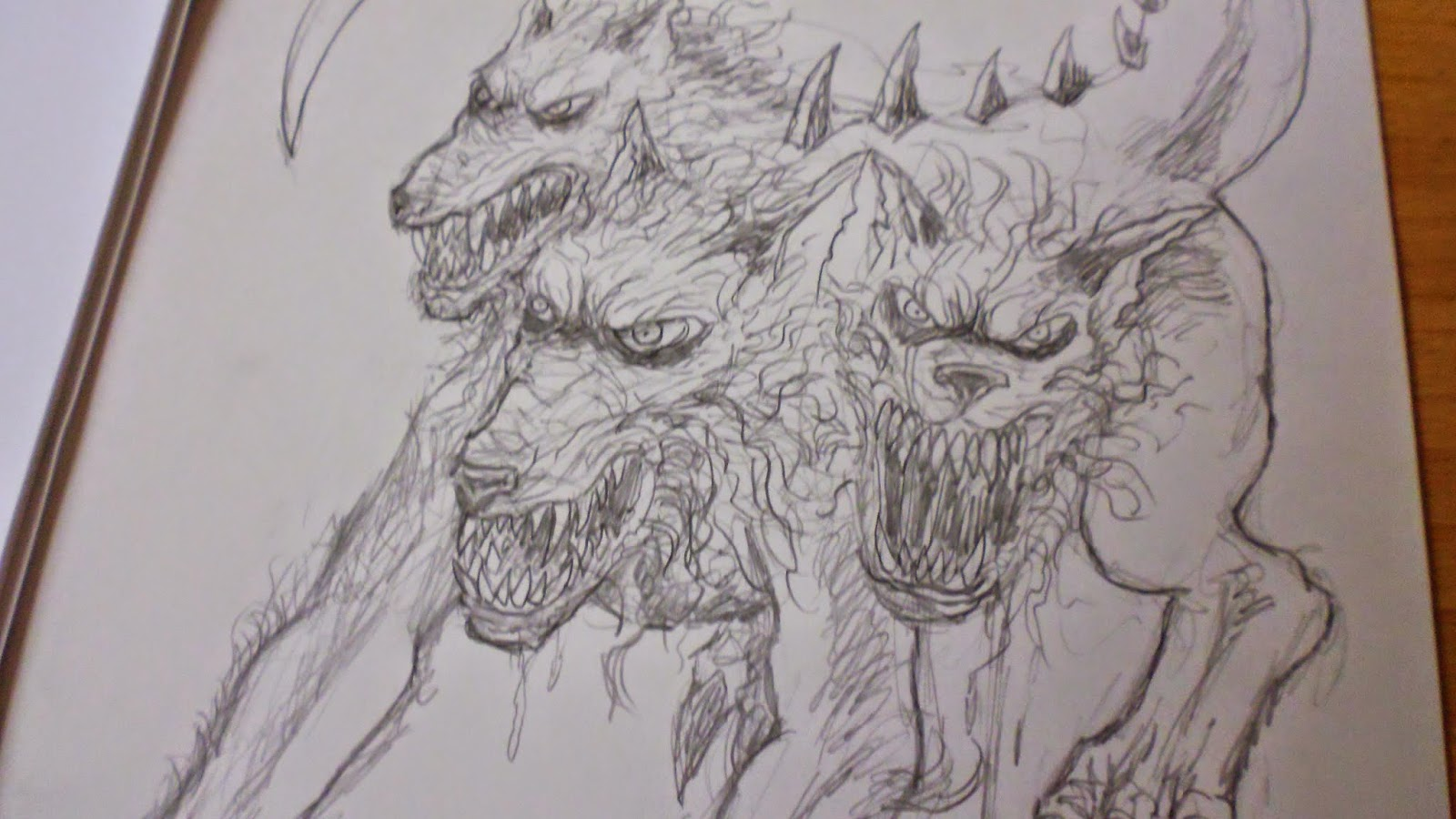 pencil drawing cerberus