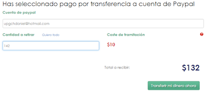 Pago transferencia paypal mercawise