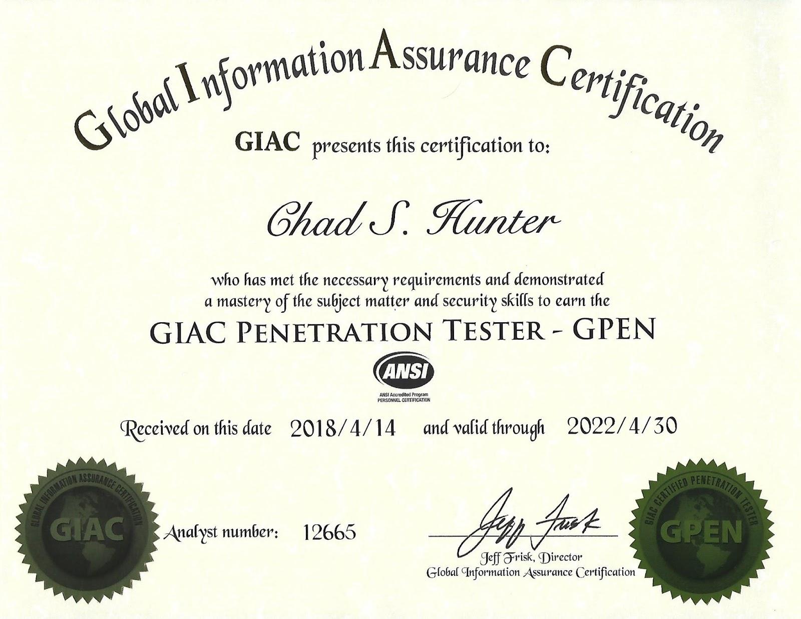 Kuru Lounge Gpen Certificate Arrived