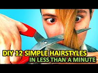 DIY 12 SIMPLE HAIRSTYLES IN LESS THAN A MINUTE, diy hair band from waste material, Simple & Easy DIY Hairstyles | Hairstyle Tutorial, Quick And Easy DIY Hairstyle Tutorials, easy hairstyles for school