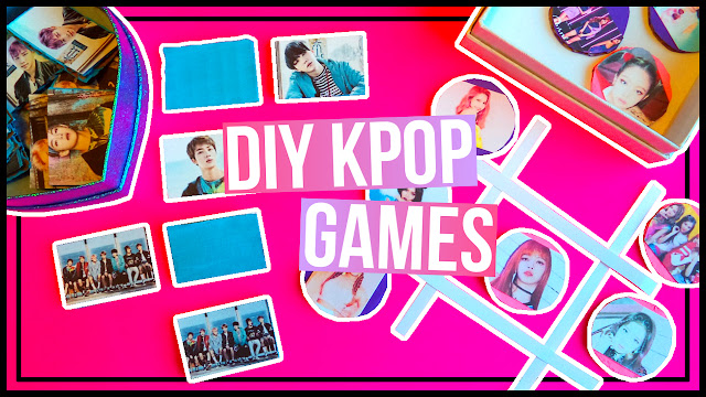 DIY Kpop Inspired Games Memory Game & Tic Tac Toe