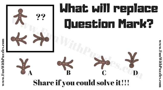 In this puzzle your challenge is find the missing picture which will replace the question mark