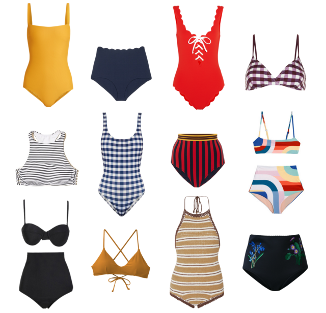 Stella McCartney, Bathing Suit, Swimsuit, Bikini, high waisted, vintage, Hollister, RVCA, Mara Hoffman, Marysia, Matteau