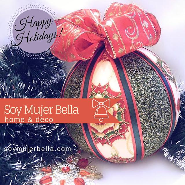 craft bolas para el árbol de navidad
