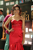 Reetu Varma smiling beauty in Deep Neck Red Gown at IIFA Utsavam Awards 2017  Day 2  Exclusive 19.JPG