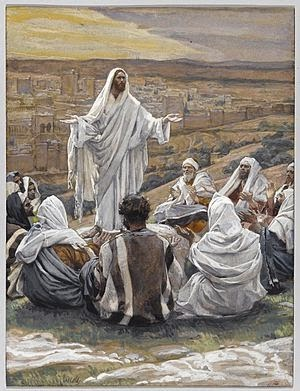 Christ teaching the disciples to pray