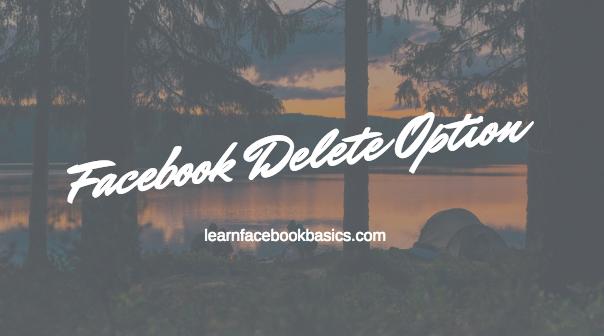 Delete Facebook Account Right Now   Facebook Delete Option
