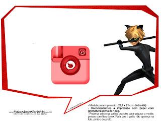 Cuadros de diálogo de Prodigiosa Ladybug que puedes usar como toppers o para photo booth.