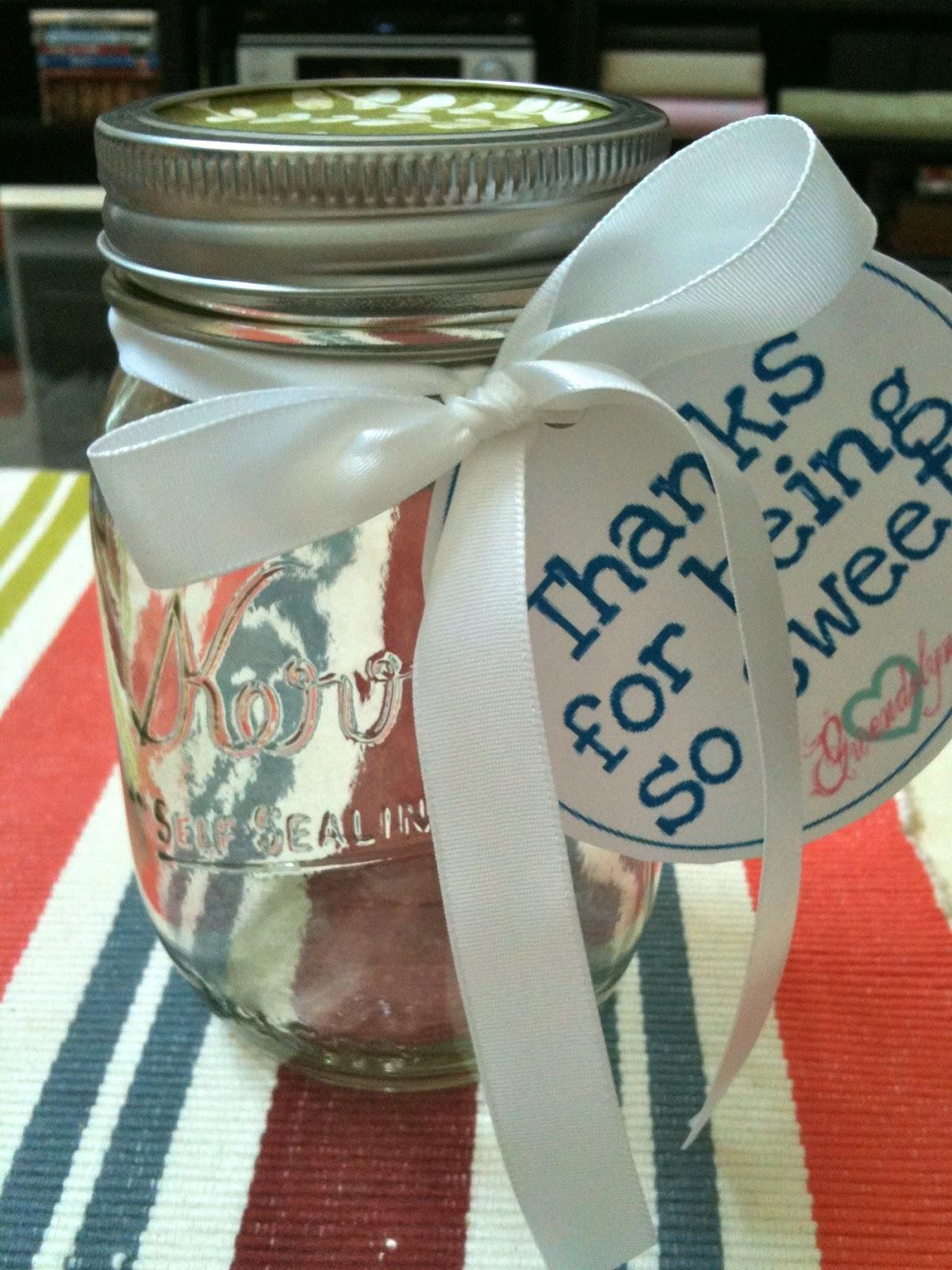 Taylor And Gwendolyn Mason Jar Thank You Gift Diy