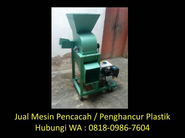 cara pembuatan mesin pencacah plastik di bandung