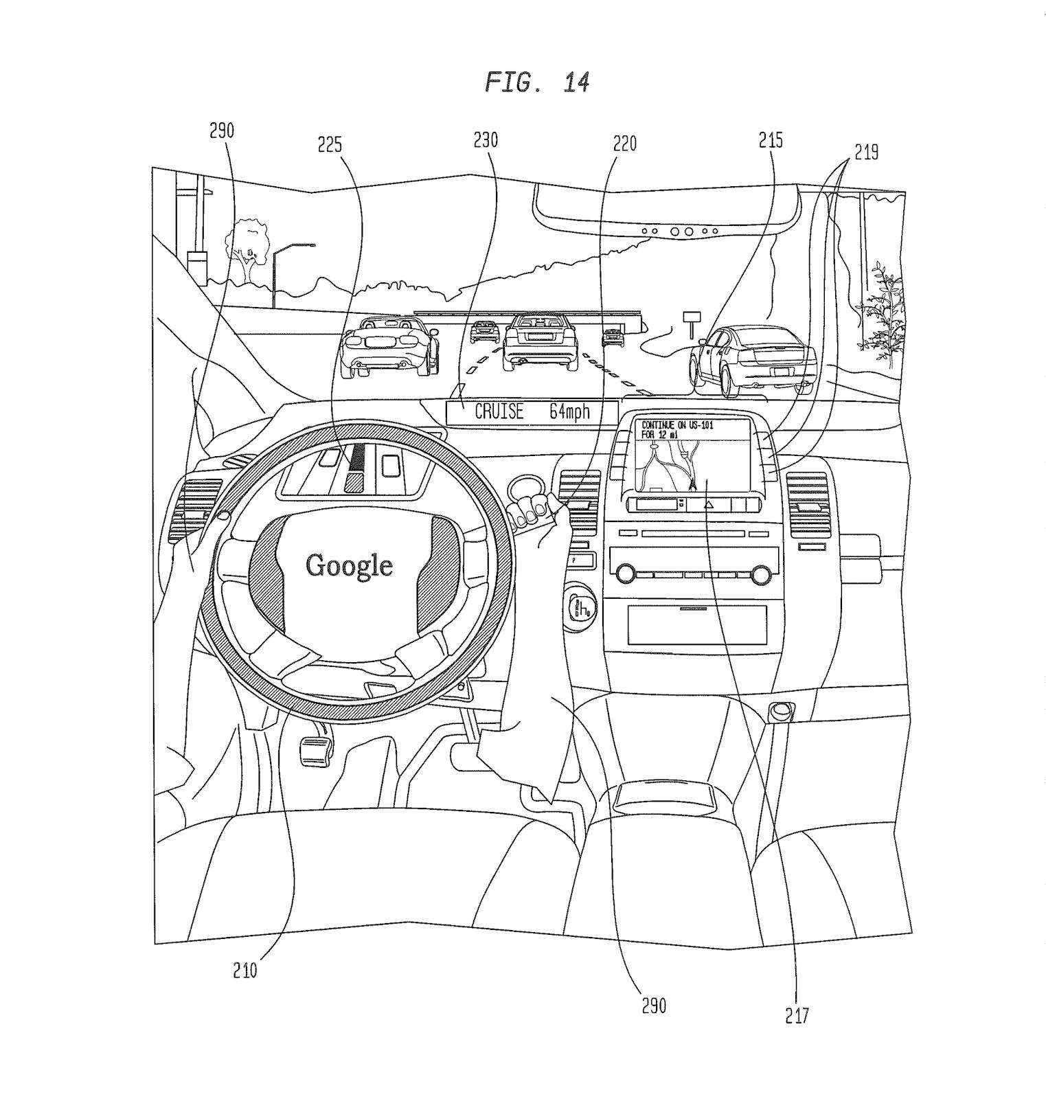 Car User Interface For Displaying Internal State