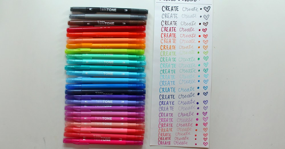 Punk Projects Color Swatching The Tombow Twintone Dual Tip Markers