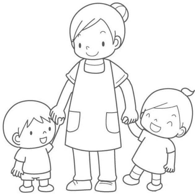 Activitati Prescolari Familia Fise De Colorat Gradinita