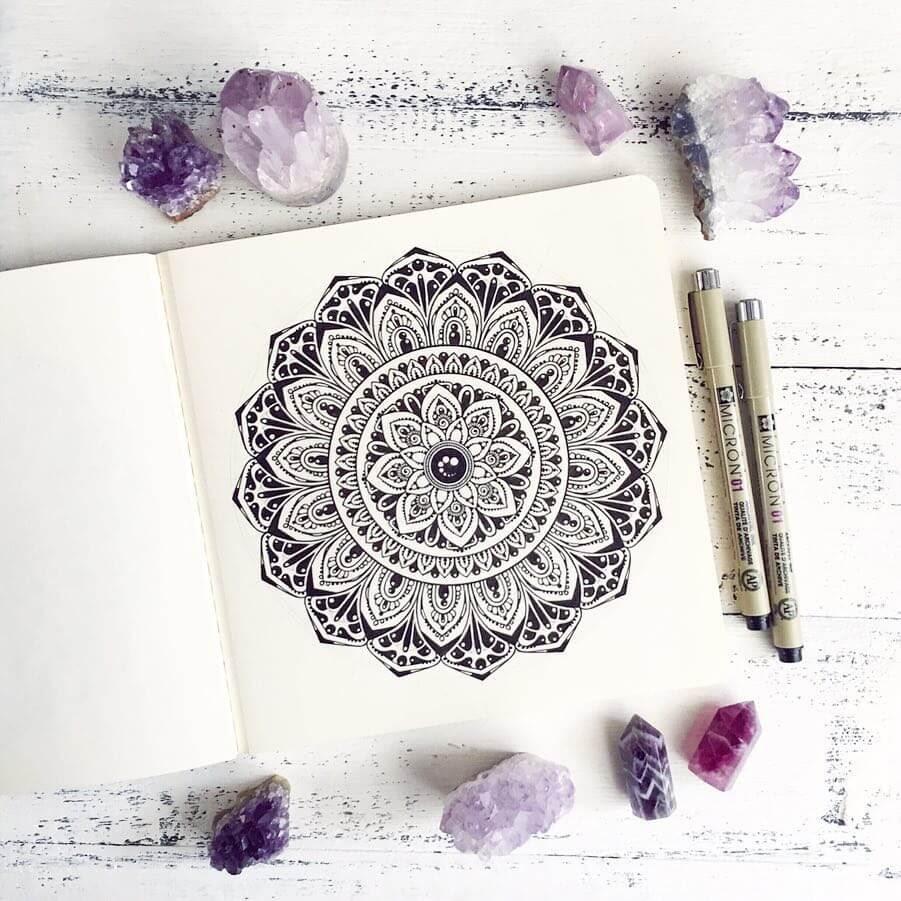 11-Ksenya-Gromova-Ink-Mandala-and-Flower-Drawings-www-designstack-co