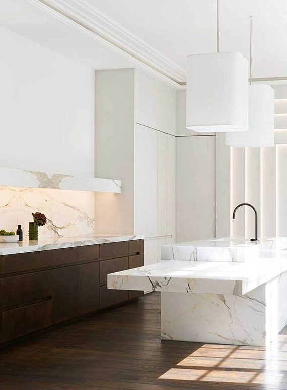 Contemporary sophisticated kitchen design by Joseph Dirand forObumex