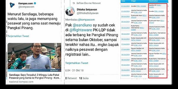 Biadab! Sandiaga Terbukti Sebar Hoax Musibah Lion Air Untuk Cari Simpati