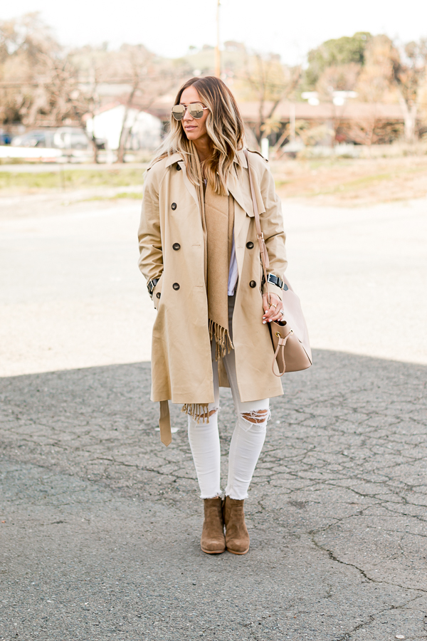 winter neutrals outfit inspo tan and white