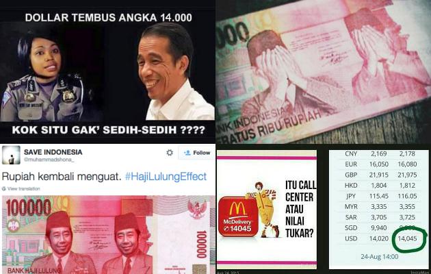 Meme Kocak Bermunculan Sindir Keterpurukan Rupiah Rp 14.000