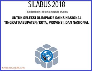 Silabus OSN SMA Tahun 2018