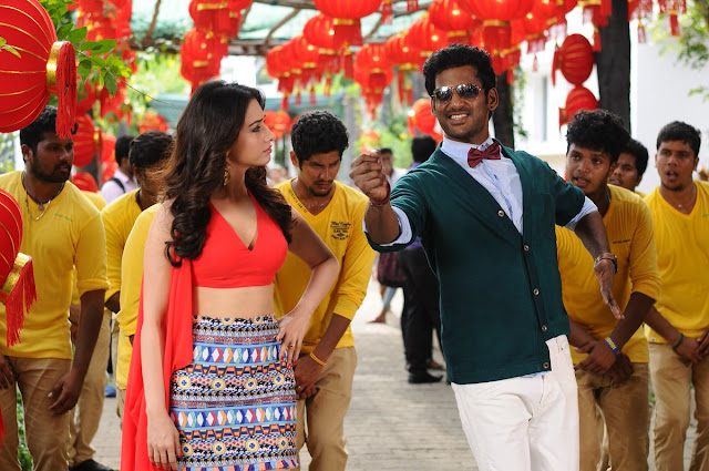Tamanna hot images from kaththi sandai tamil movie