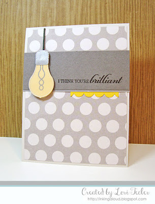 I Think You're Brilliant card-designed by Lori Tecler/Inking Aloud-stamps and dies from Mama Elephant