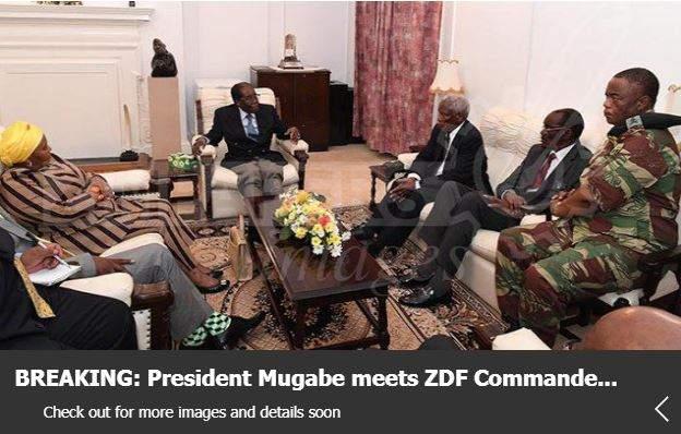 Photos of Mugabe meeting army chief