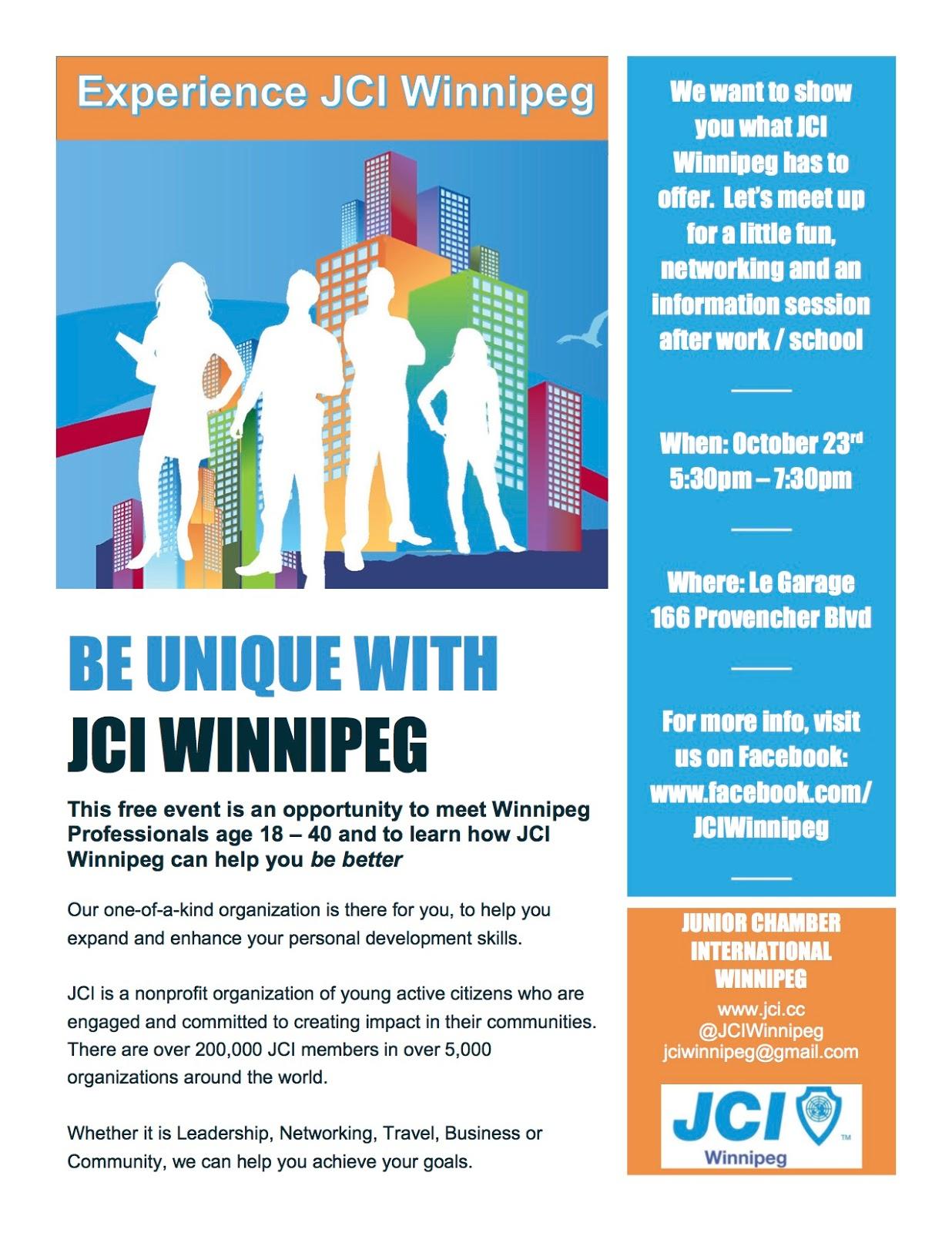 JCI Winnipeg - Where is winnipeg