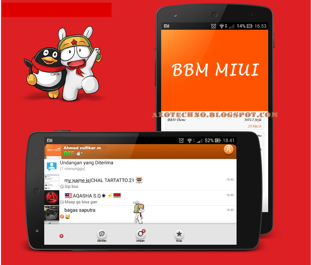 Download BBM Mod MIUI Themes Version 2.7.0.21 Apk