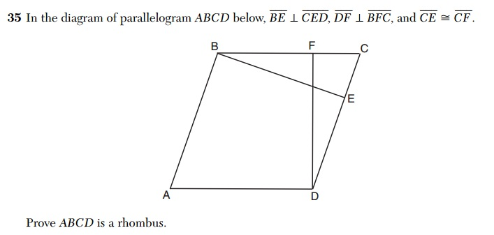 X  Why    August 2015 Geometry  Common Core  Regents
