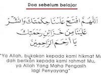 Doa Sebelum Belajar dalam Rumi Berserta Maksud