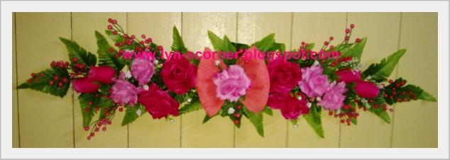 Gubahan Bunga Dinding Panjang
