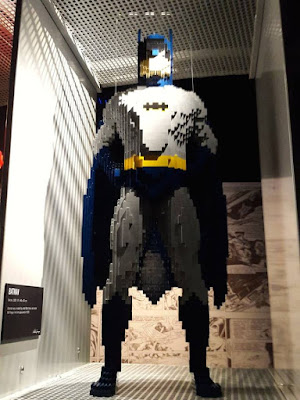 Batman in Lego form Art of the Brick