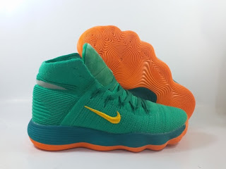 Nike Hyperdunk 2017 High - Green Orange
