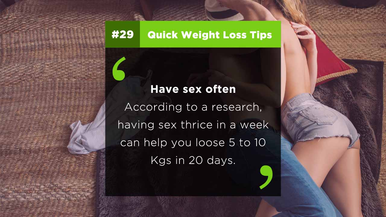 Weight loss tips - Sex for weight loss fast at home naturally