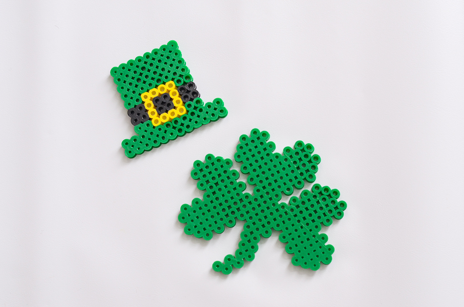 St. Patrick's Day perler bead designs for kids from And Next Comes L
