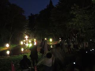童話村の森 ライトアップ 最終日間近tags[岩手県]