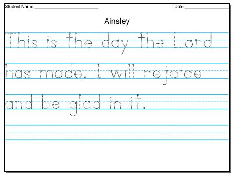 Kids Handwriting Practice | Hand Writing