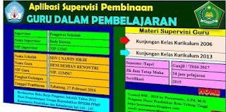 Aplikasi Instrumen Kunjungan Kelas Kurikulum 2013 Dan KTSP Untuk Supervisi