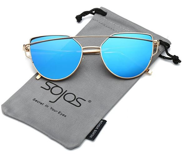 SojoS Cat Eye Mirrored Flat Lenses from Amazon