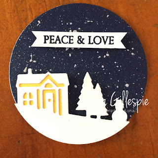 scissorspapercard, Stampin' Up!, Art With Heart, Heart Of Christmas, Merry Christmas To All, Hearts Come Home, Hometown Greetings Edgelits, Shimmer Paint