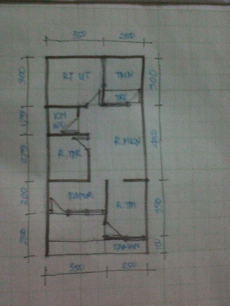 gambar denah rumah lebar 6m 1