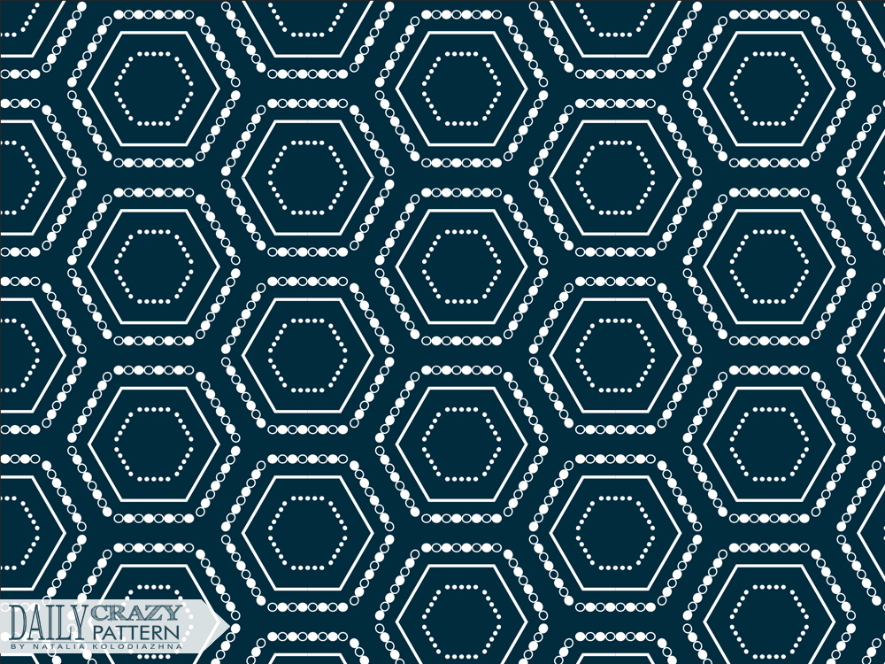 """Impressive pattern with hexagons for """"Daily Crazy Pattern"""" project 