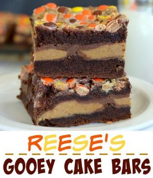 Reese's Gooey Cake Bars