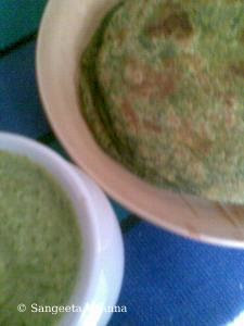 bathua ka paratha and amla chutney