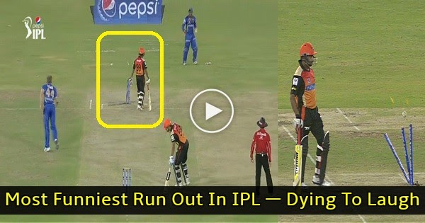 This Is Most IPL2016 Funniest Run Out Ever In IPL Cricket