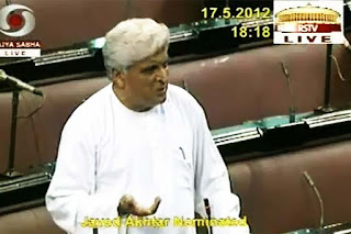 Javed Akhtar copyright amendment Bill 2012 Parliament