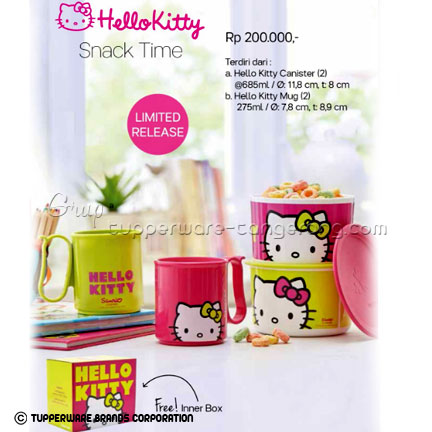 Hello Kitty Snack Time ~ Katalog Tupperware Promo Juni 2016