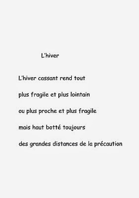 Où Va Ecrire Carte Avec Poème Inédit Lhiver De Laurent